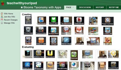 Teach with your ipad listing of apps