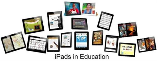 iPads in Education - lots of ipads with education themes on them
