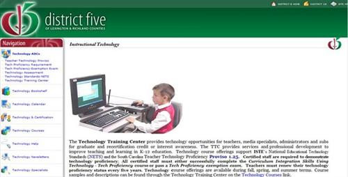 A generic example of a teacher's web page